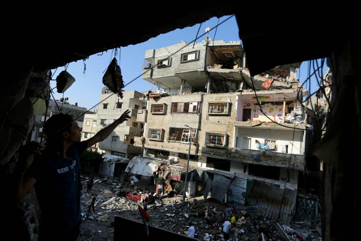 Domy v Pásmu Gazy zničené útoky izraelské armády