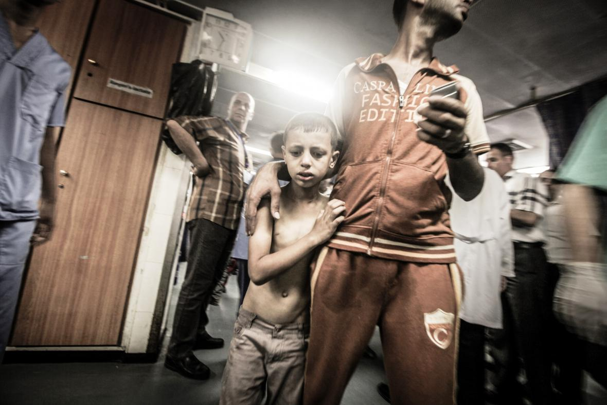 Palestinci z Pásma Gazy