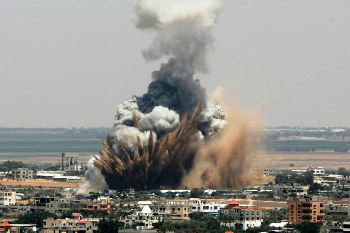 Izraelské ostřelování pásma Gazy