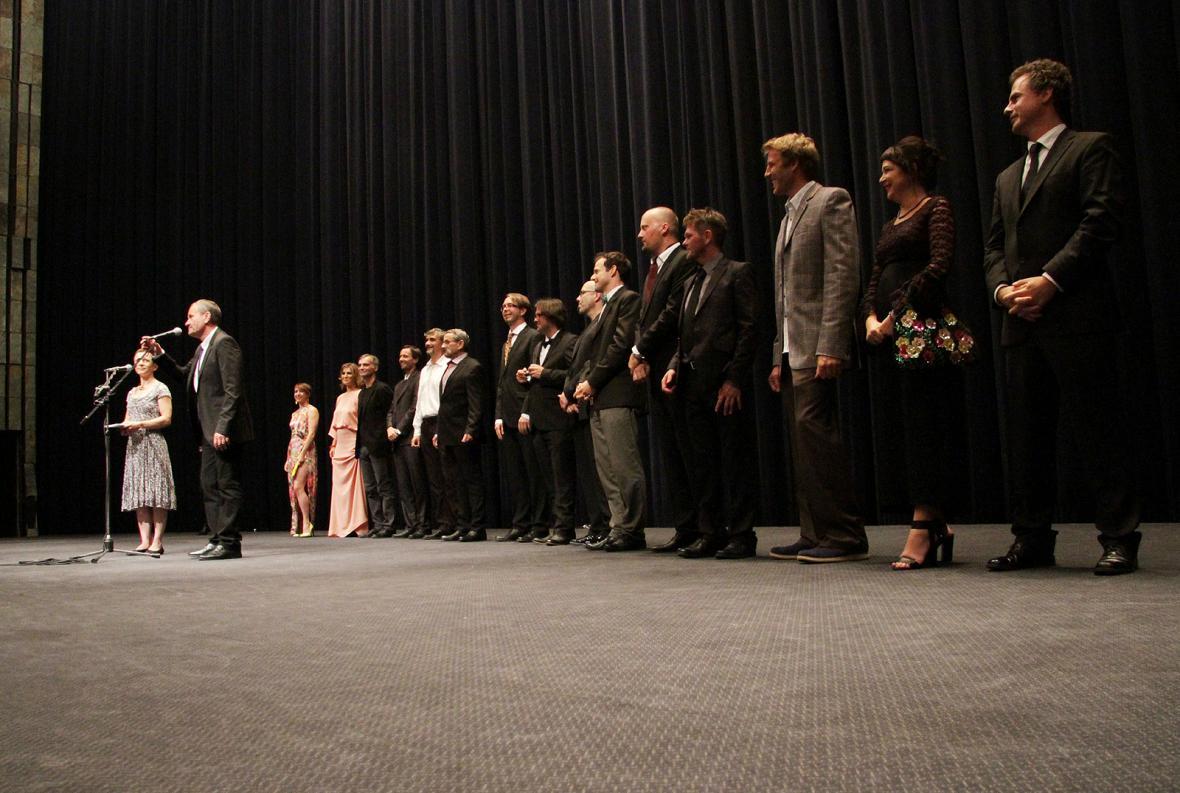 Delegace k filmu Díra u Hanušovic