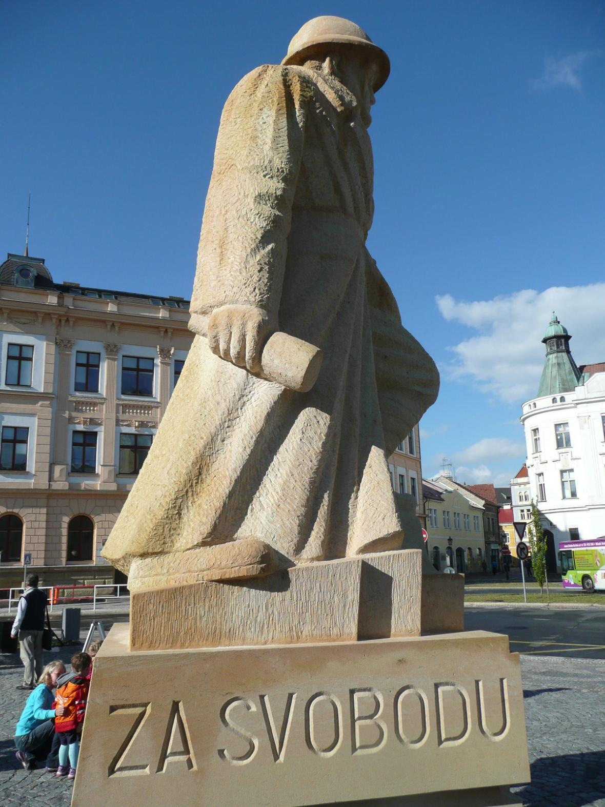 Socha legionáře v Mladé Boleslavi