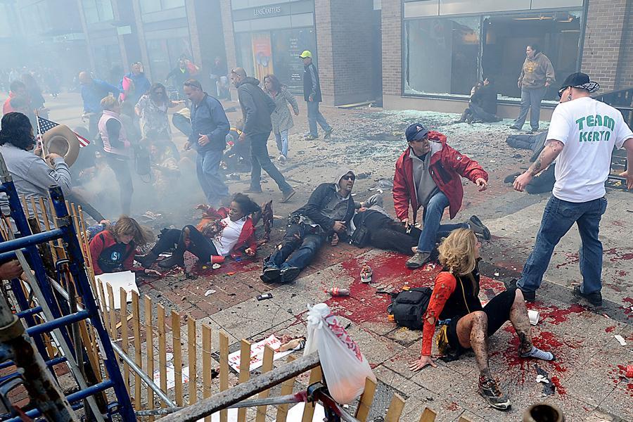 Bombový útok na maratonu v Bostonu