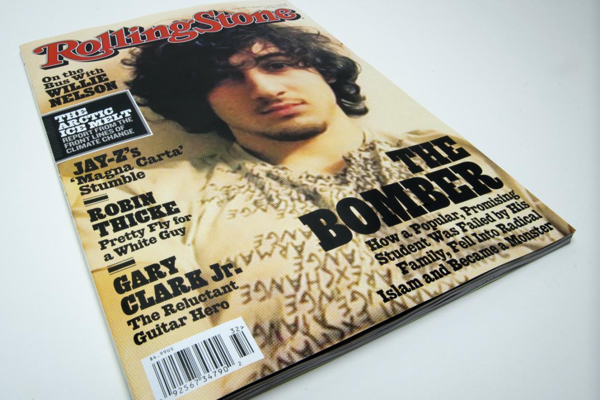 Džochar Carnajev na obálce časopisu Rolling Stone