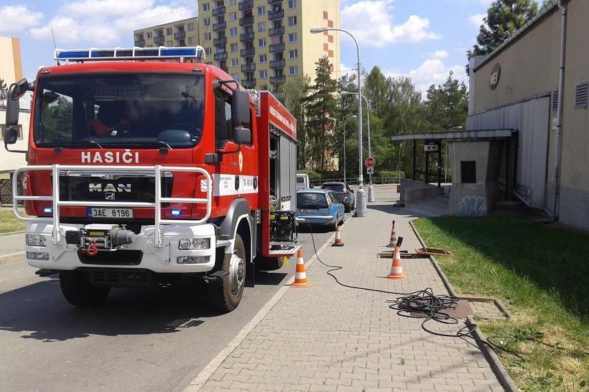 Únik plynu v brněnské ulici Měřičkova