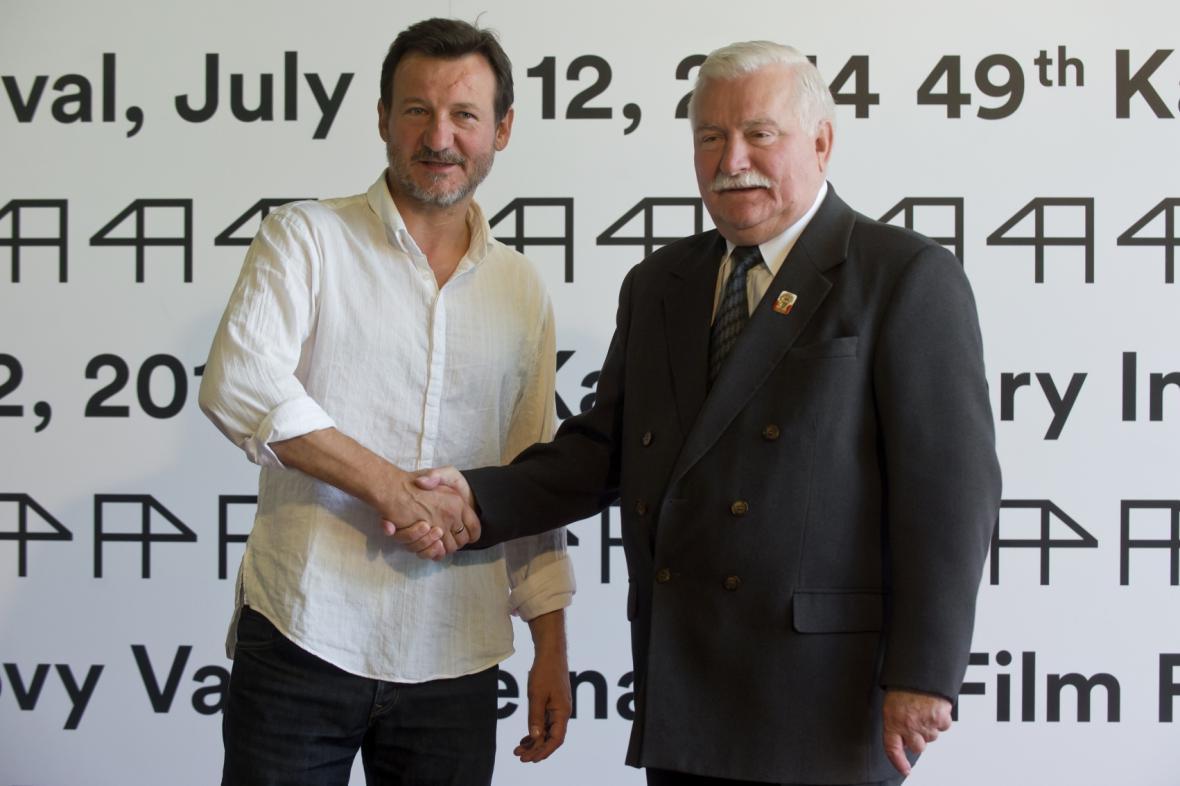 Robert Wieckiewicz (vlevo) a Lech Walesa