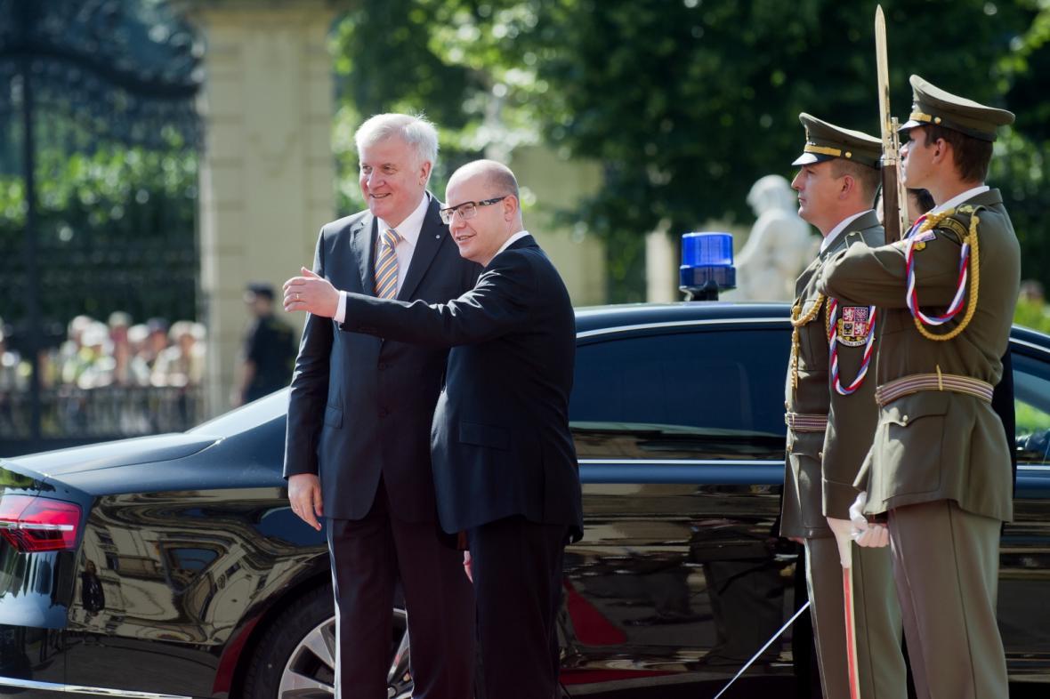 Návštěva Horsta Seehofera v Praze