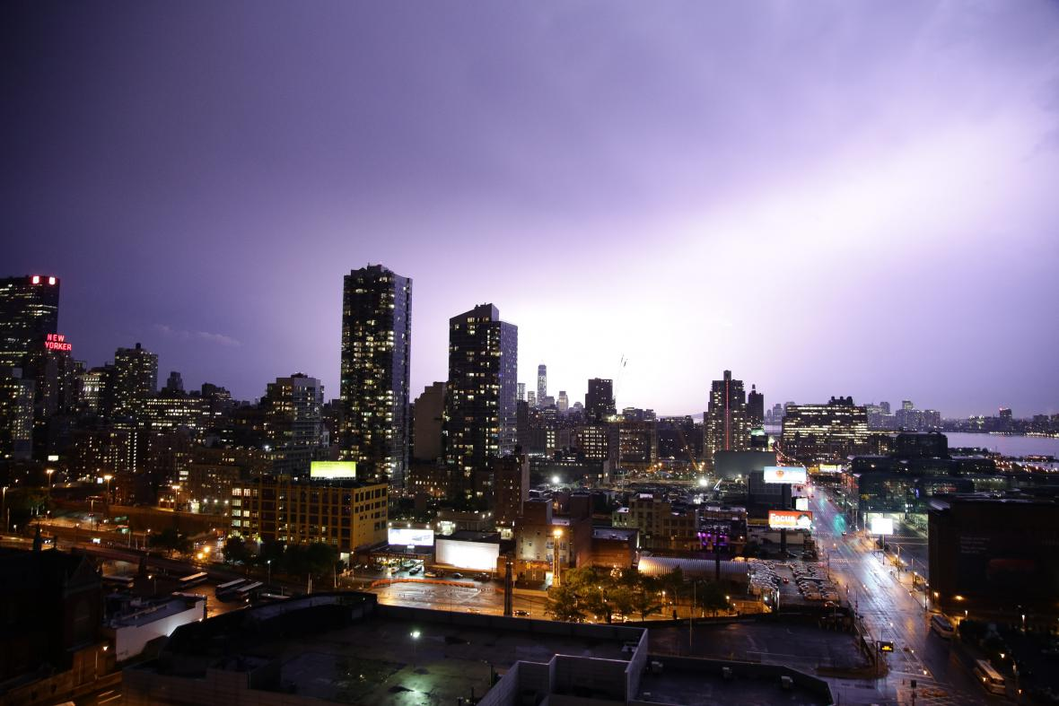 Letní bouřka v New Yorku