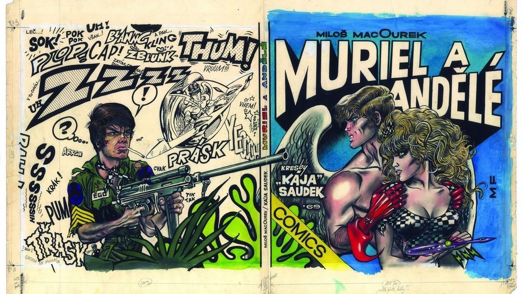 Originál komiksu Muriel a andělé