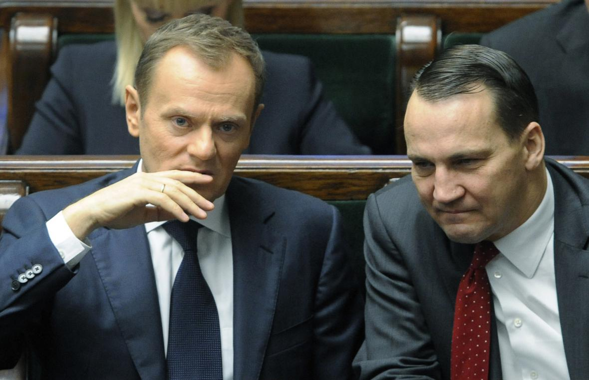 Donald Tusk a Radoslaw Sikorski