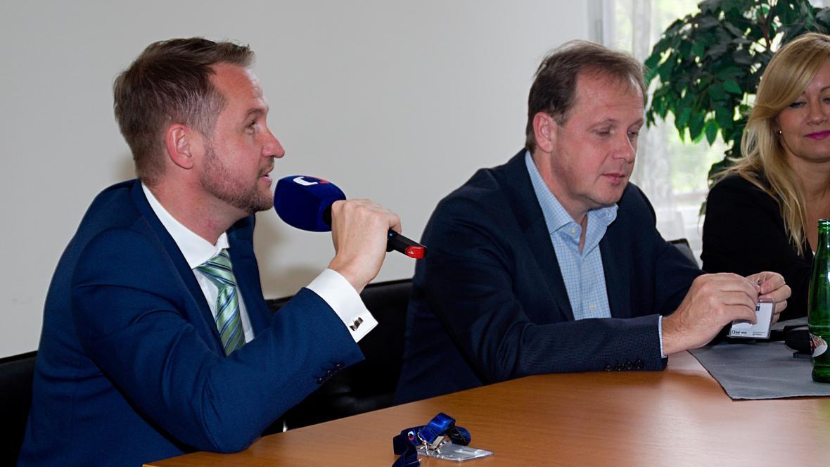 Jan Souček s Petrem Dvořákem