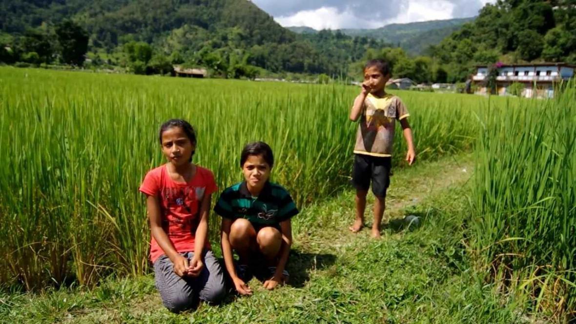 Děti z Pancha Kochi v Nepálu