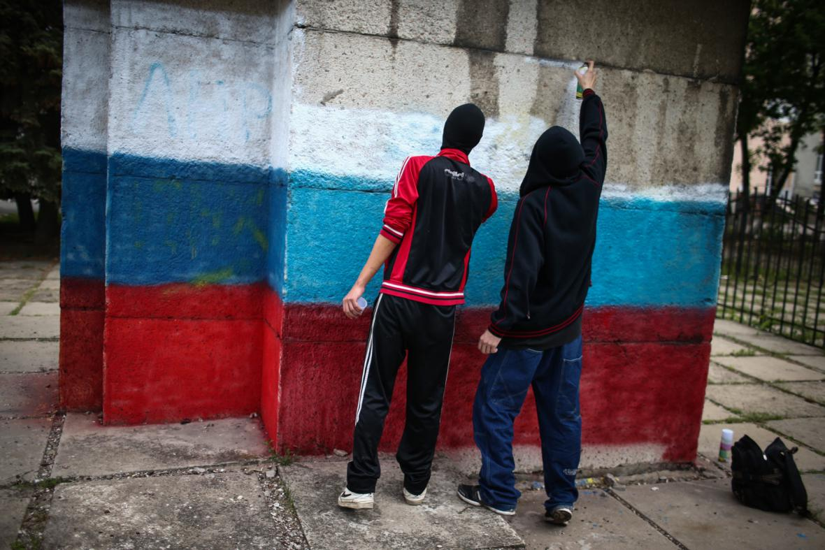 Ruští separatisté v Luhansku