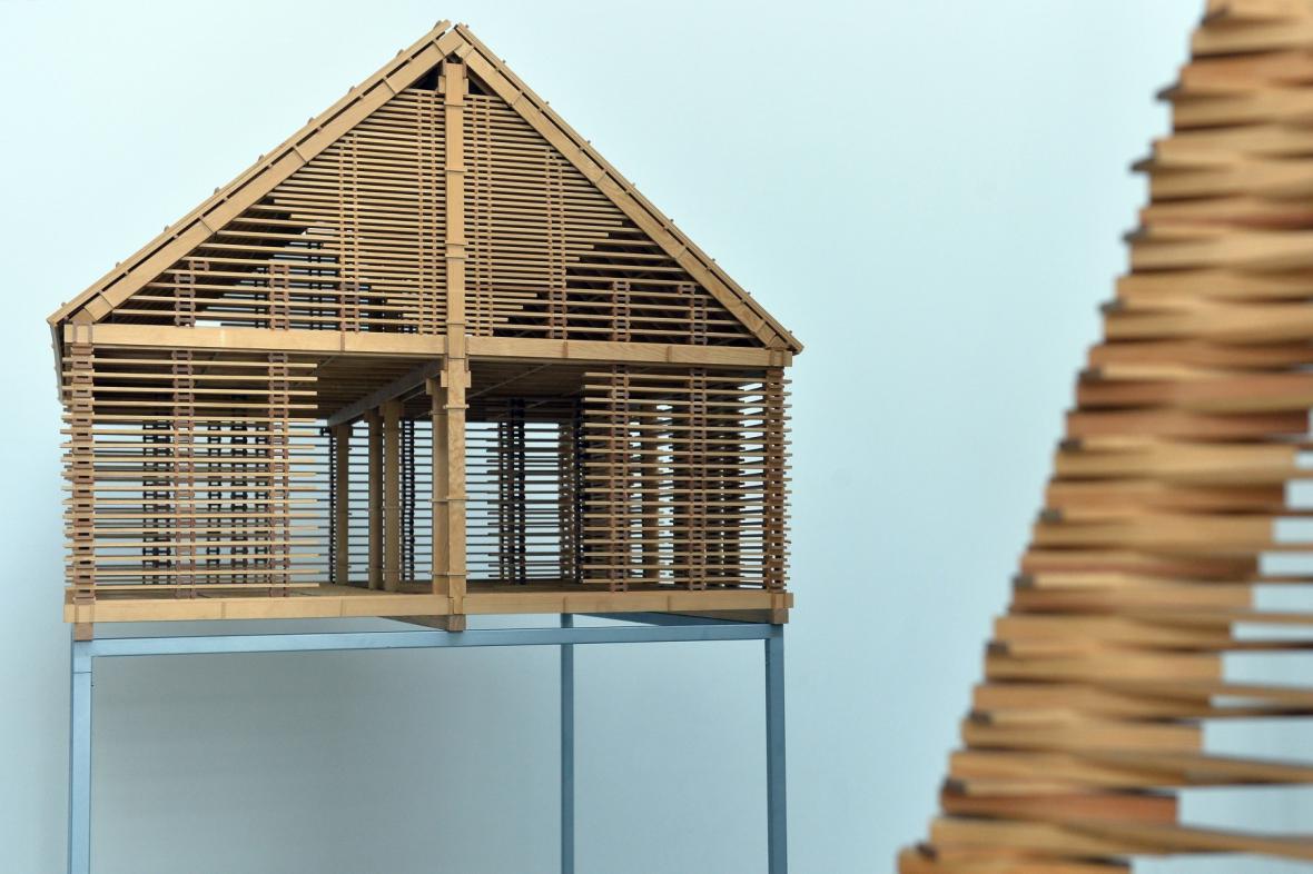 Stodola v Maxově - sklad dřeva v podobě domu