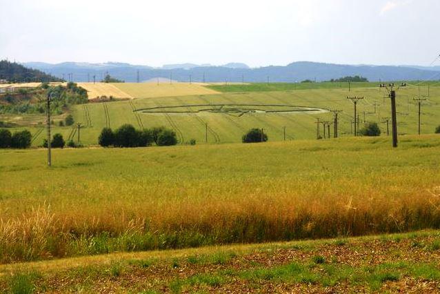 Obrazec v poli u Boskovic