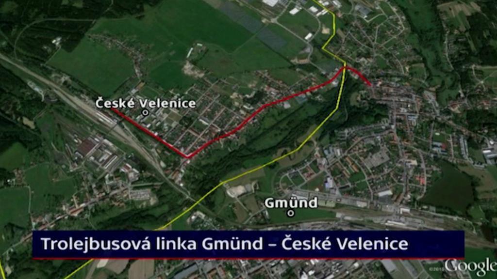 Trolejbusová linka Gmünd - České Velenice