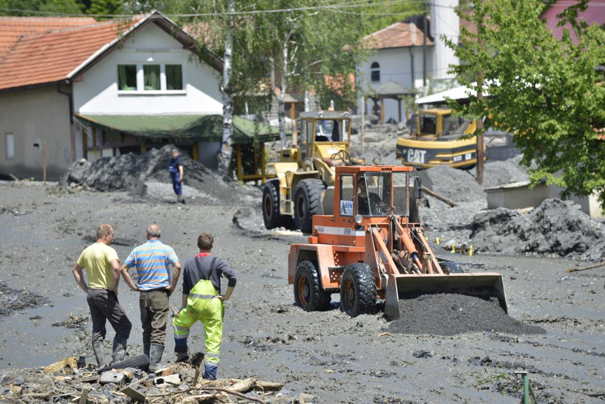 Záplavy v bosenském městě Zenica