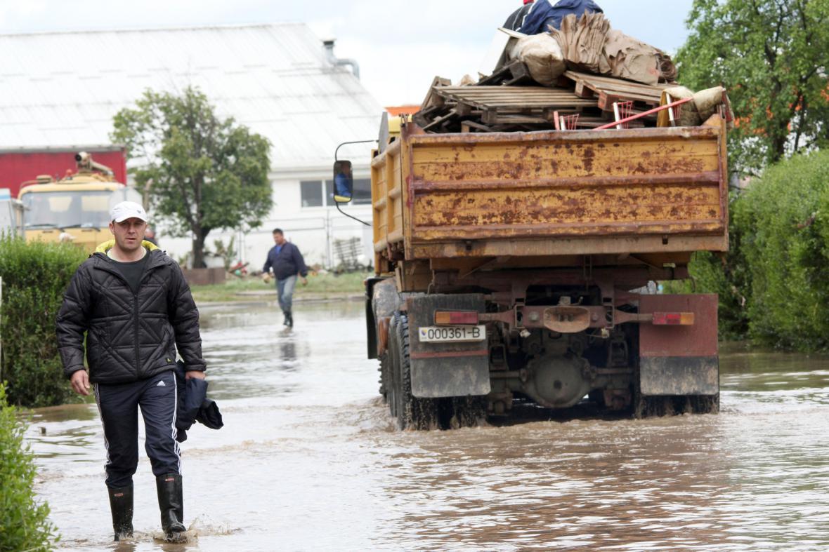 Záplavy v srbské Banja Luce