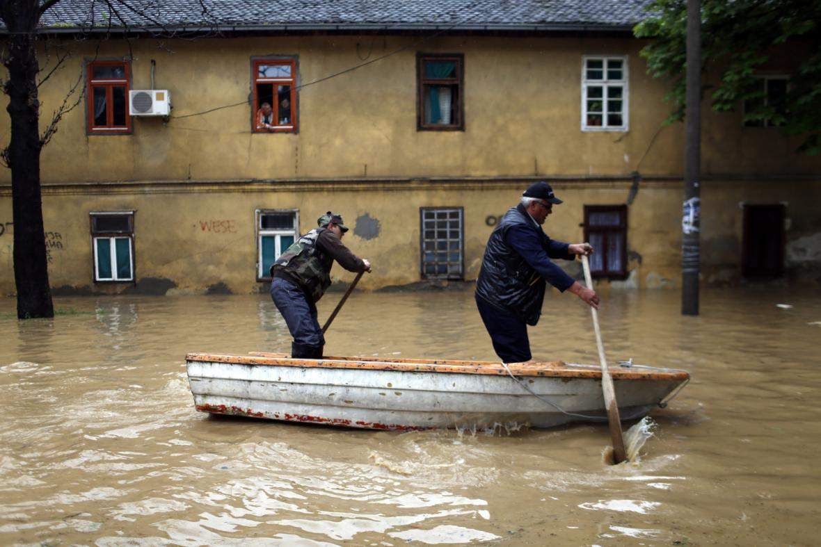 Záplavy v Srbsku