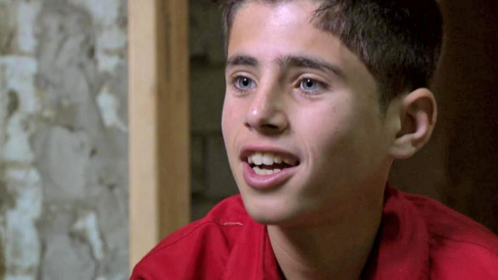 Třináctiletý syrský uprchlík Baha