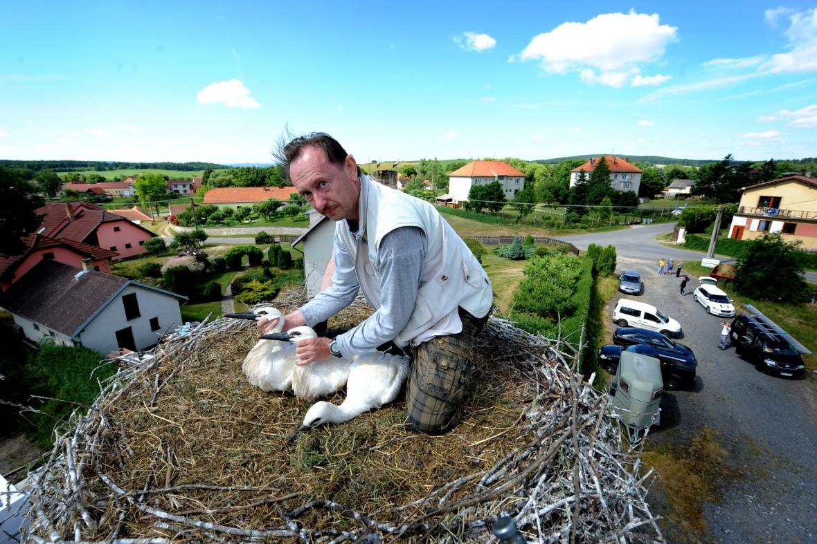 Ornitolog Josef Hodek
