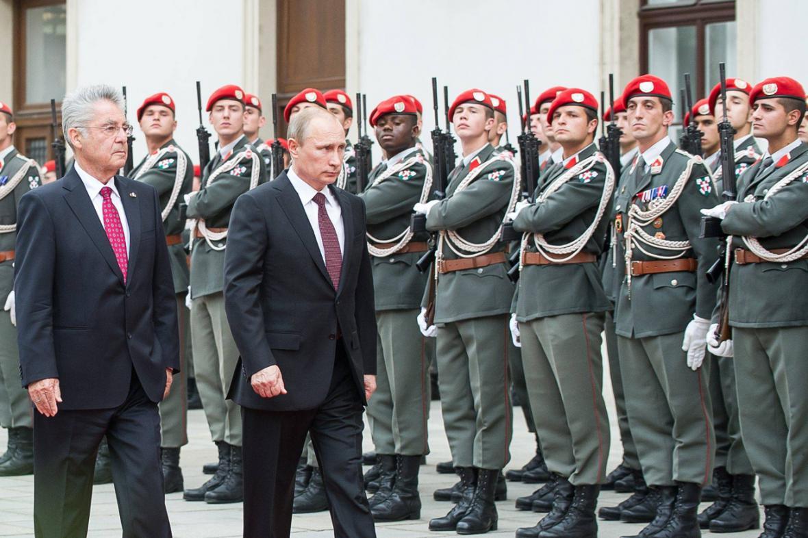 Heinz Fischer a Vladimir Putin