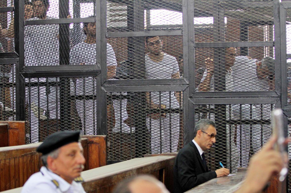Novináři Al-Džazíry před egyptským soudem