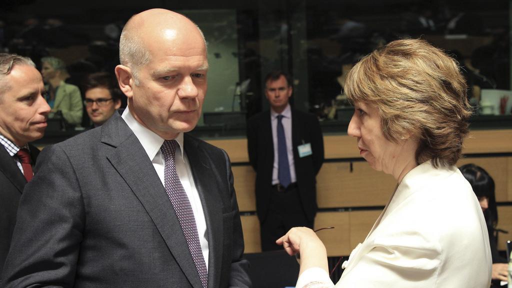 Jednání v Lucemburku: Catherine Ashtonová a William Hague