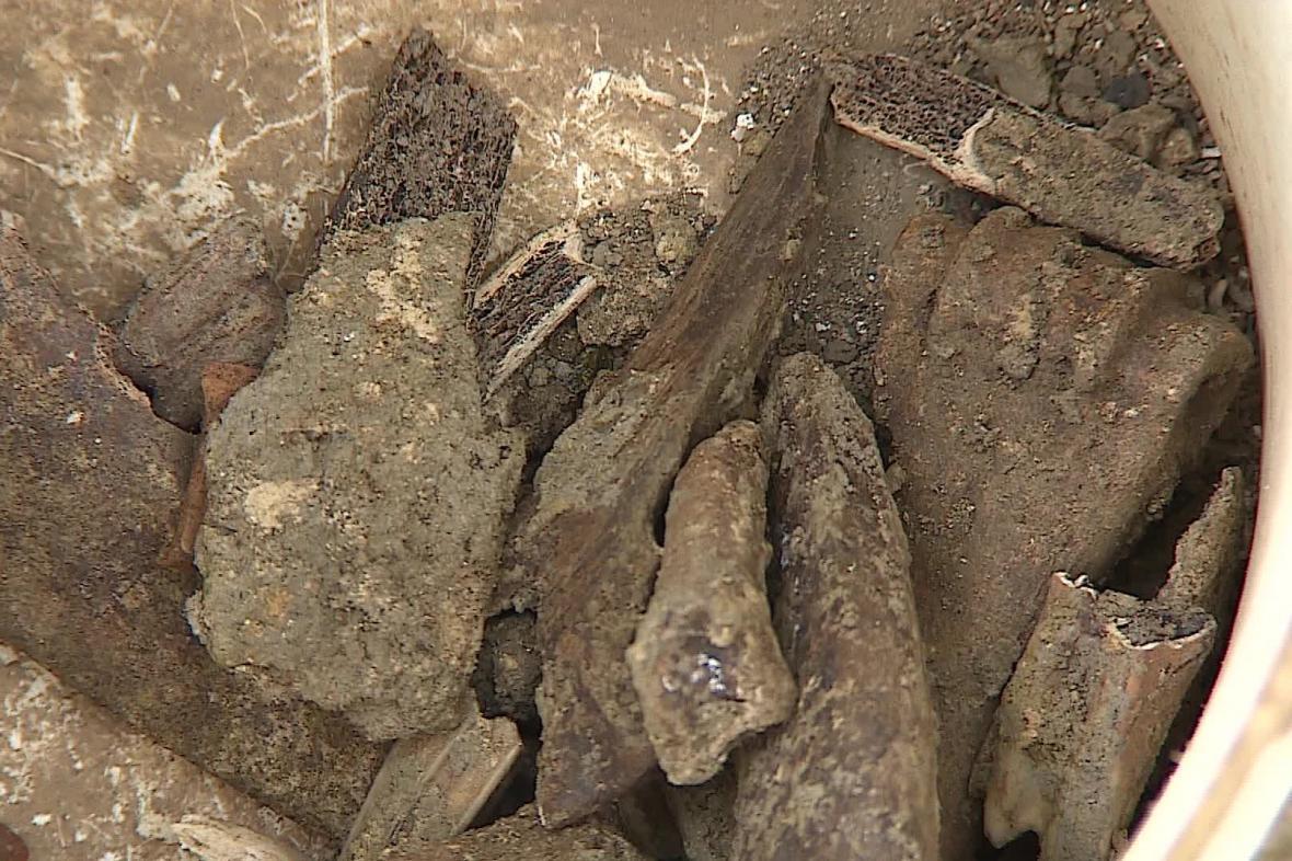 Archeologové našli desítky drobných předmětů