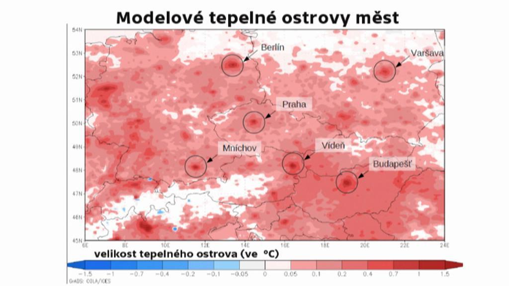 Teplné ostrovy ve střední Evropě