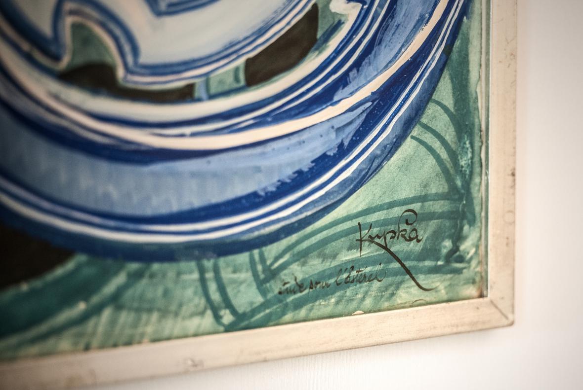 Obraz Františka Kupky Vanoucí modře z roku 1923