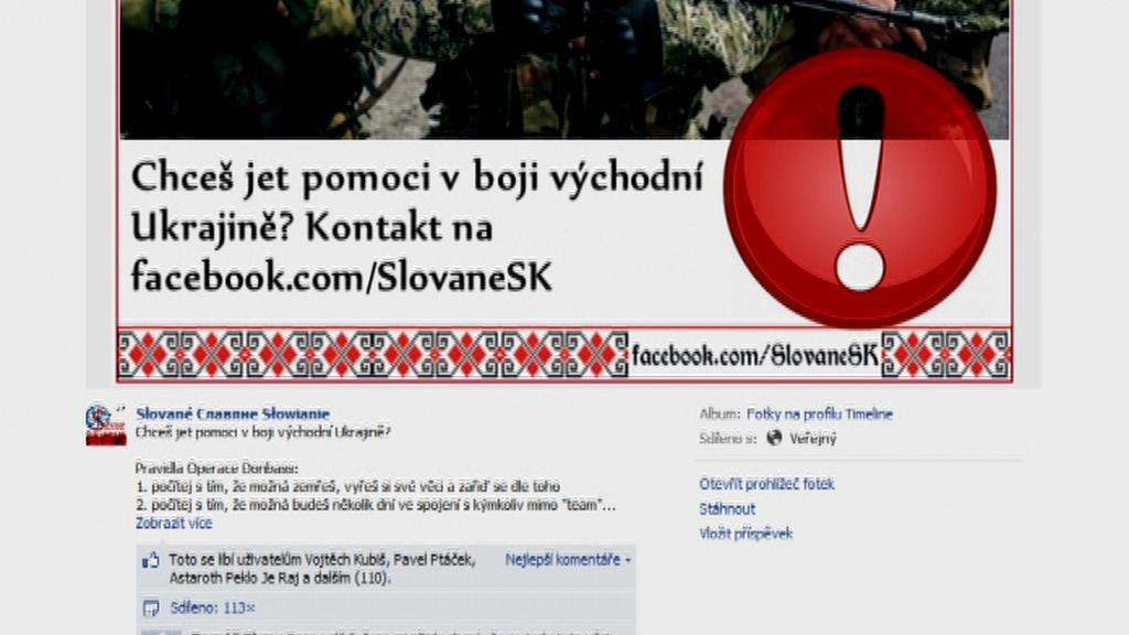 Nábor českých lidí na pomoc východní Ukrajině