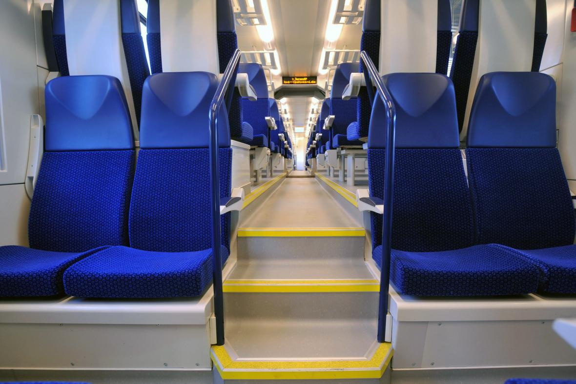 Interiér vlaku RegioPanter