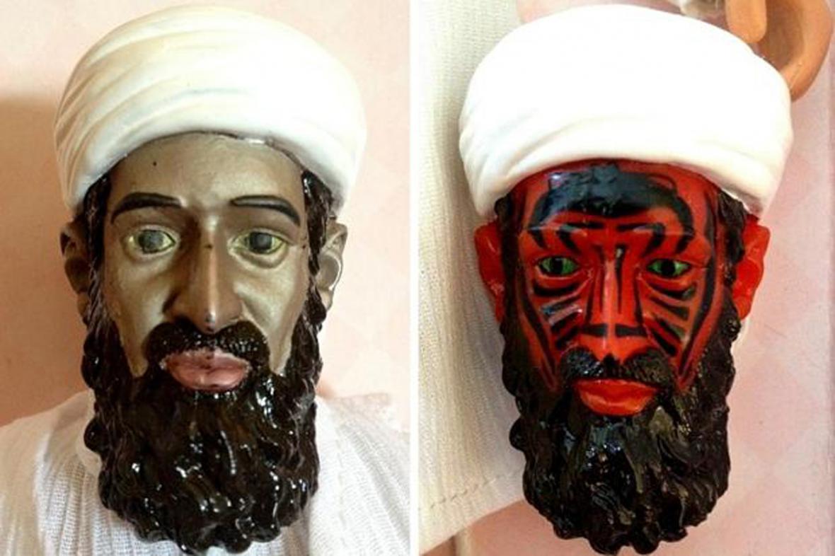 Ďábelské figurky Usámy bin Ládina