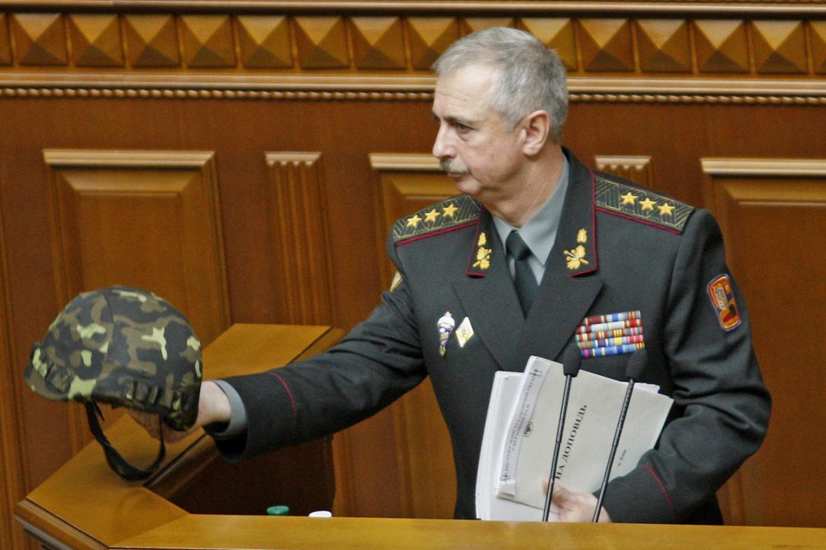 Ukrajinský ministr obrany Mychajlo Koval