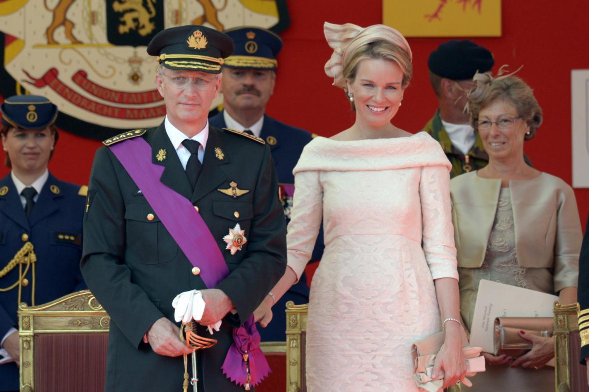 Belgický královský pár - Philippe a Mathilda