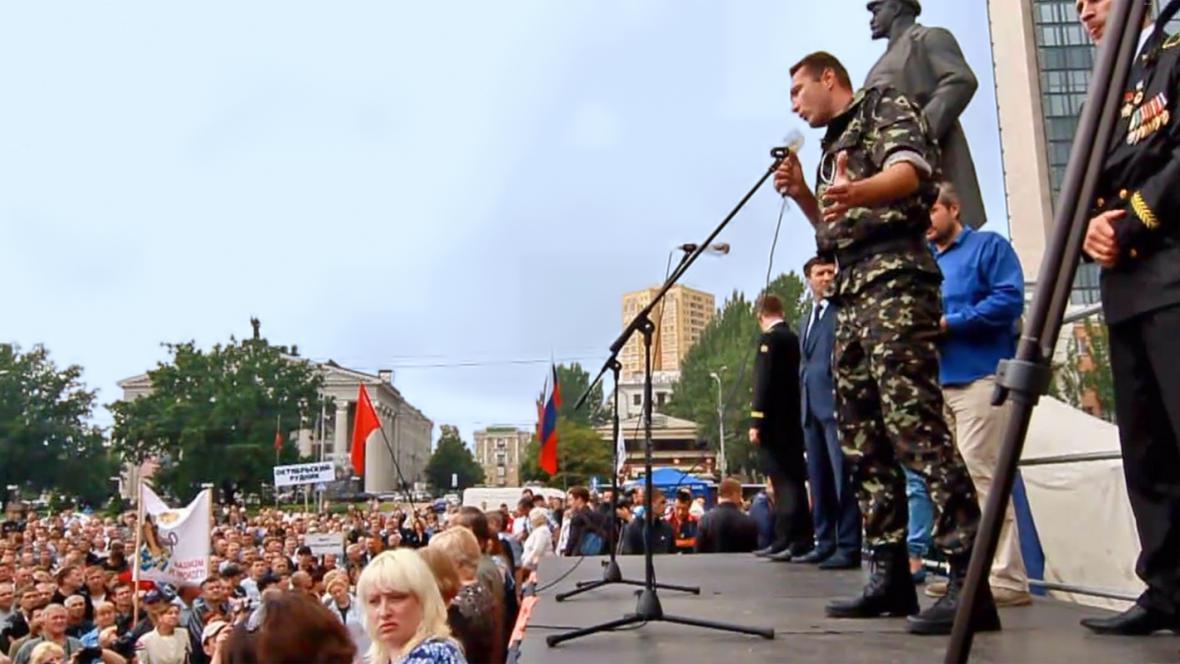 Údajný český dobrovolník na Ukrajině Ivo Stejskal