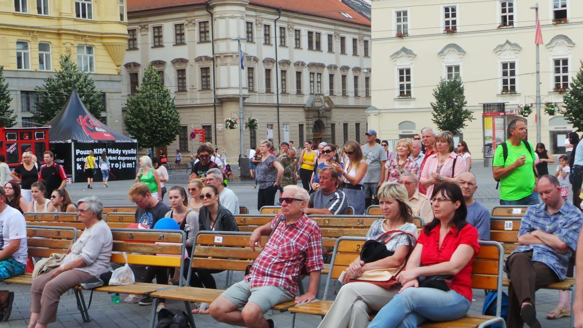 Návštěvníci koncertu