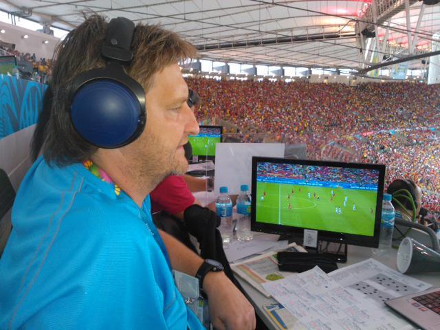 Jaromír Bosák na stadionu Maracaná