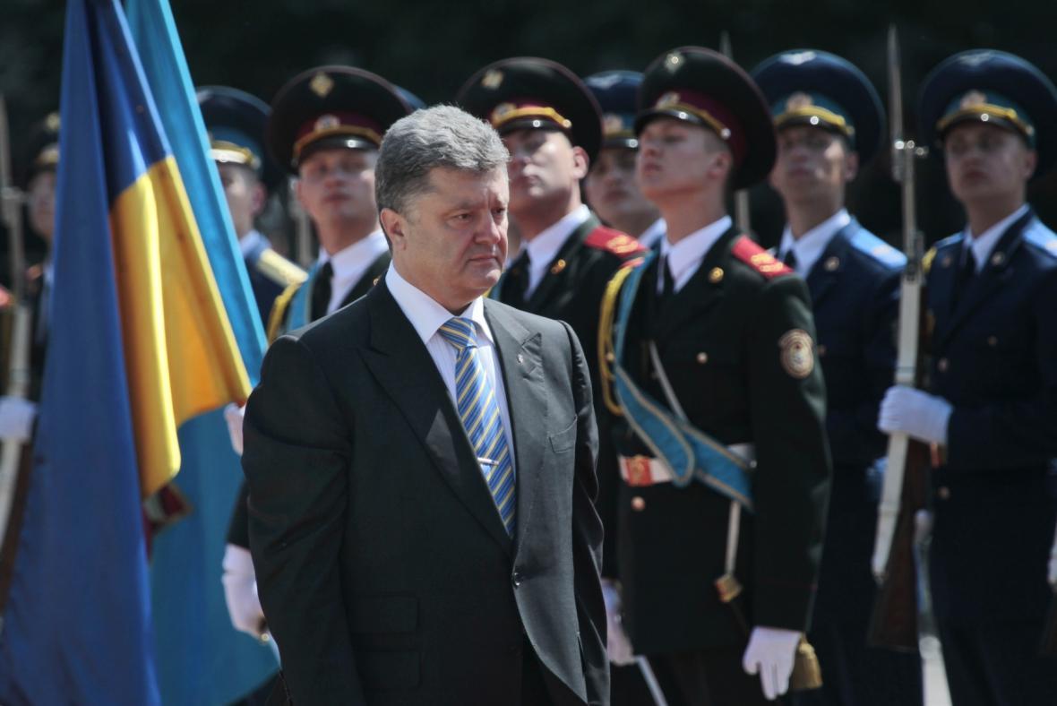 Petro Porošenko po slavnostní inauguraci