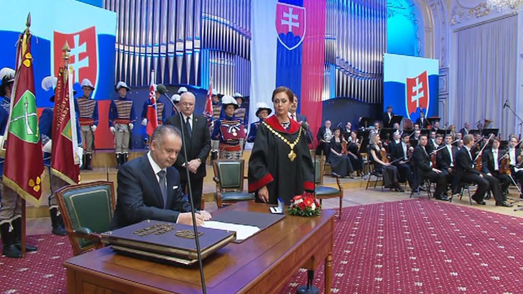Prezidentská inaugurace Andreje Kisky