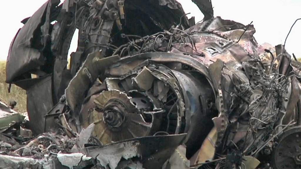 Ukrajinské letadlo sestřelené separatisty v Luhansku