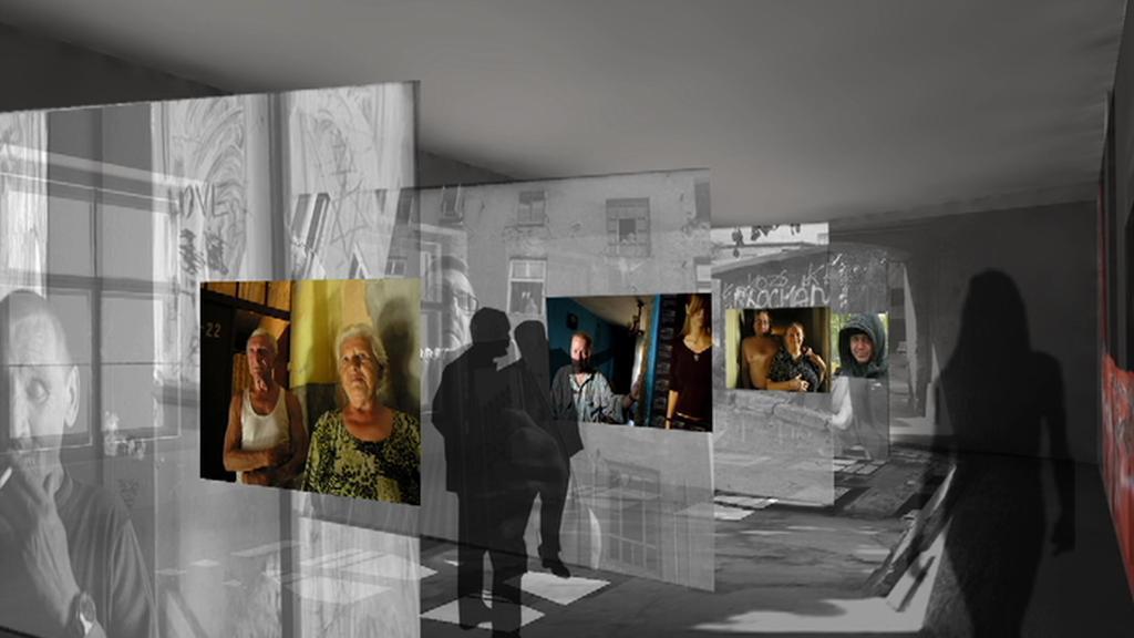 Vizualizace expozice památníku Šoa