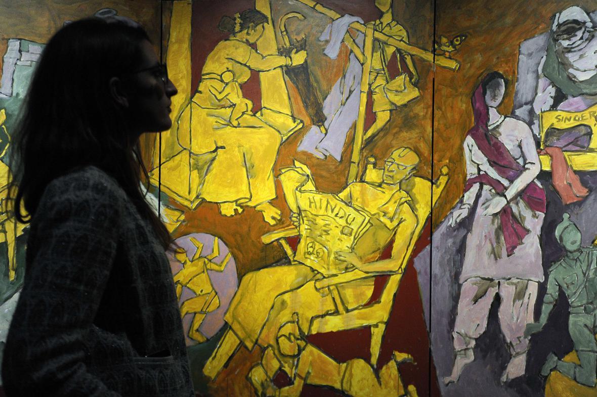 Výstava M. F. Husajna