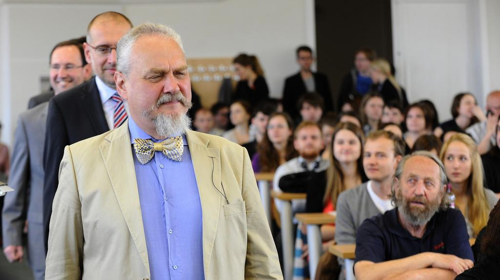 Andrej Zubov při přednášce v Brně