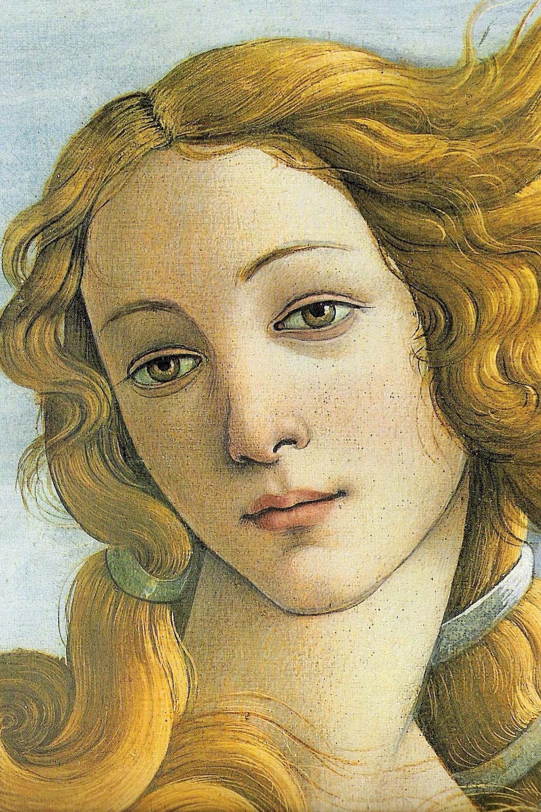 Sandro Botticelli - Zrození Venuše (detail)