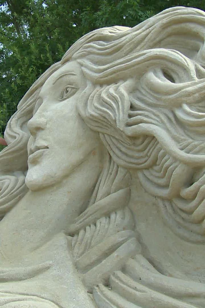 Písková socha Botticelliho Venuše