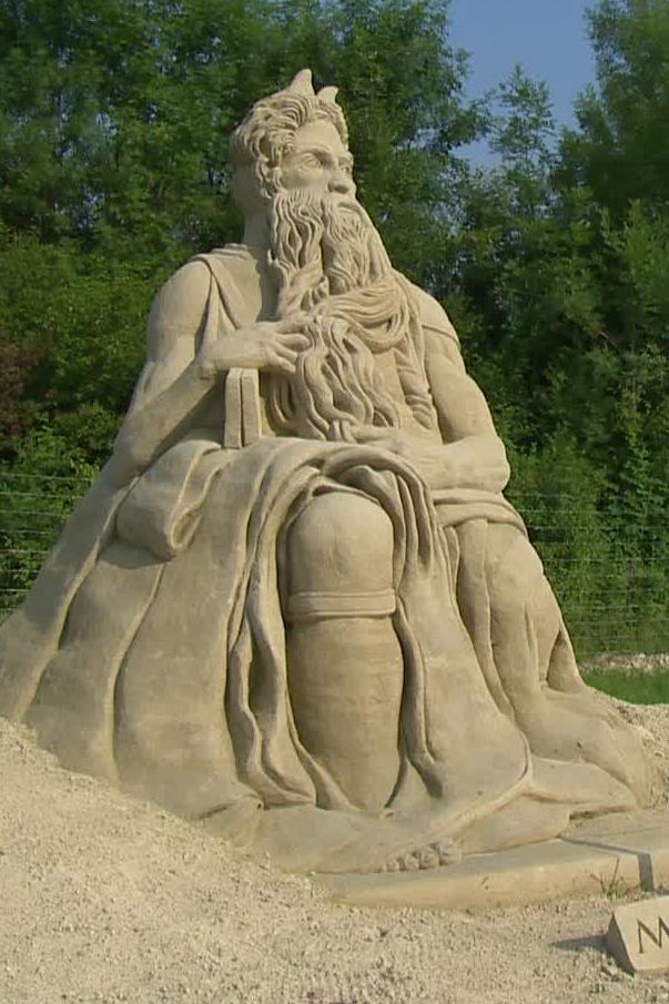 Písková socha Mojžíše
