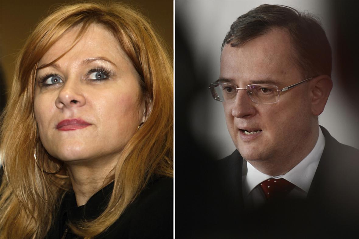 Jana Nagyová a Petr Nečas