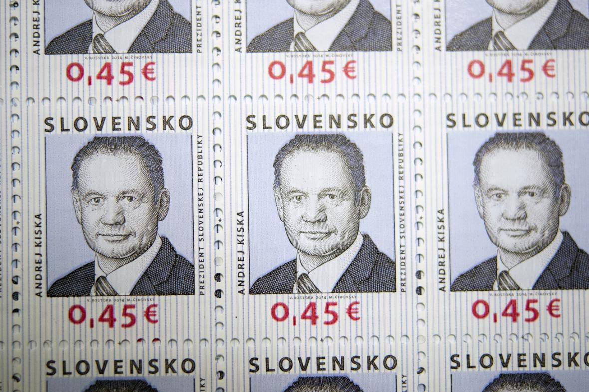 Poštovní známky s portrétem Andreje Kisky