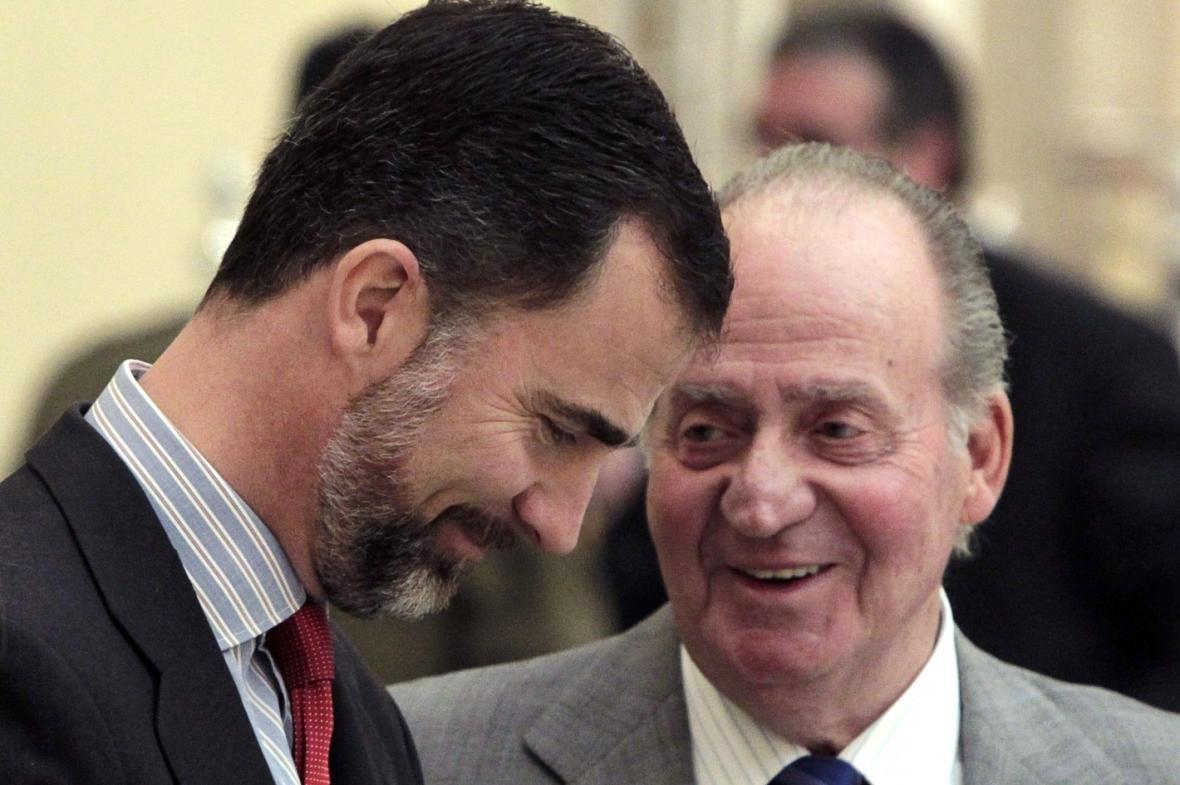 Juan Carlos a princ Felipe